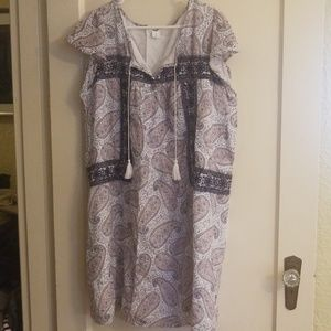 Old navy embroidered summer dress paisley  xl